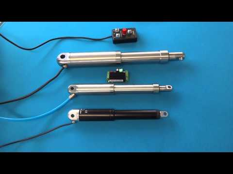actuator - Linear actuators with hall sensors for accurate positional control over the full stroke length.