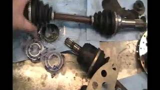 6. Part-1 Yamaha Wolverine 350 4X4 CV Joint Change and Spindle Bearings.