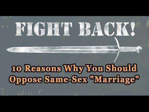 Why Same Sex Marriage Is Bad