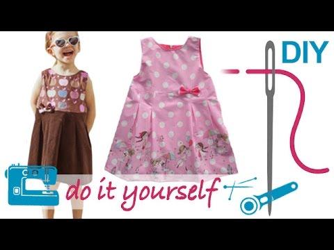 """Grundkurs Kinderkleid mit nahtfeinen Reißverschluss (RV) und Futter selber nähen """"HILLE"""""""