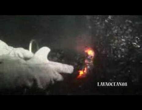 Lavaduikers bij Kilauea vulkaan Hawaii