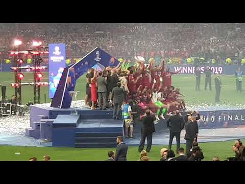 Liverpool Champion League 2019 Trophy Celebration