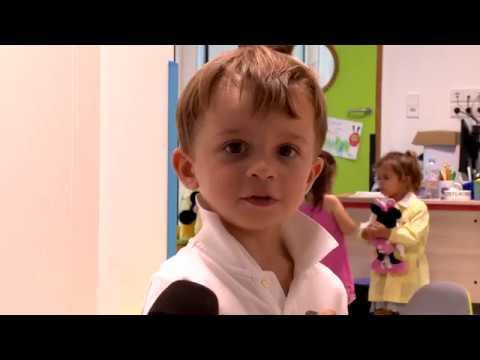 First day at nursery school
