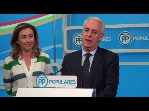 Rueda de prensa del Presidente del PP de La Rioja, José Ignacio Ceniceros