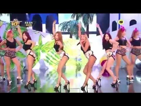 140724 씨스타 Sistar - Intro - Ok Go - Touch My Body - M! Countdown (видео)