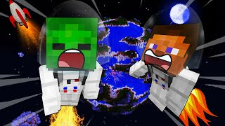 BABY Zombie In SPACE - MINECRAFT STEVE AND BABY ZOMBIE [56]