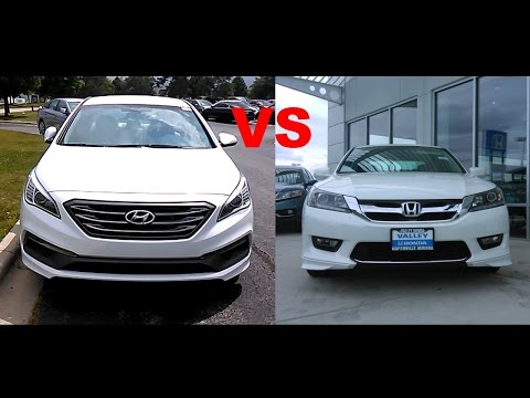 2015 Honda Accord VS 2015 Hyundai Sonata