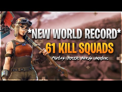 Fortnite Kills World Record Broken 61 Kills!!!!!!!!!!!!!!!