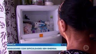 Moradores enfrentam dificuldades depois que companhia cortou energia elétrica