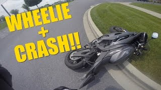 8. 2016 Yamaha R6 WHEELIE + CRASH!!!