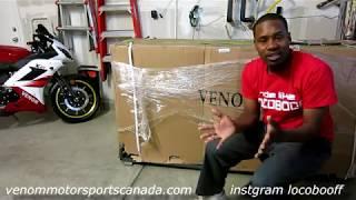 7. 2017 Venom x21 50cc Unboxing & Setup   Super Pocket Bike?