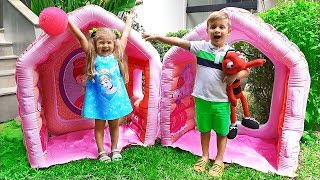 Diana Pretend Play with Giant Indoor Inflatable Playhouse Kids Toy