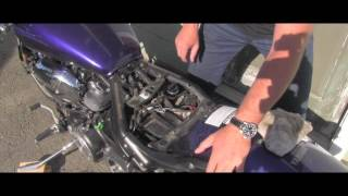 3. How to check engine oil Yamaha Road Star Warrior