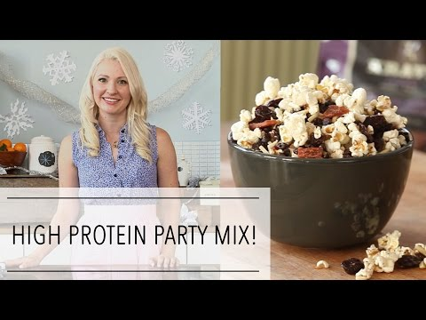 HIGH PROTEIN Holiday PARTY MIX Recipes | Healthy Snack Ideas for Entertaining
