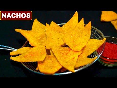 Video Homemade Crispy Nachos Recipe in Hindi (नाचो चिप्स्) | Corn Tortilla Chips | CookWithNisha download in MP3, 3GP, MP4, WEBM, AVI, FLV January 2017