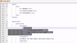 04. Adding the Meat - HTML5 Tutorials