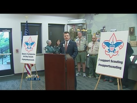 scouts - In one of their most dramatic choices in a century, local leaders of the Boy Scouts of America voted Thursday to ease a divisive ban and allow openly gay boy...
