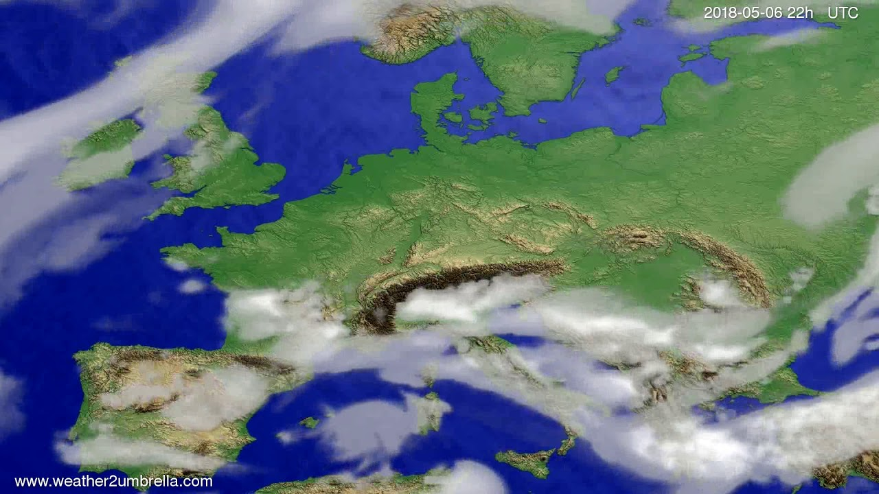 Cloud forecast Europe 2018-05-04