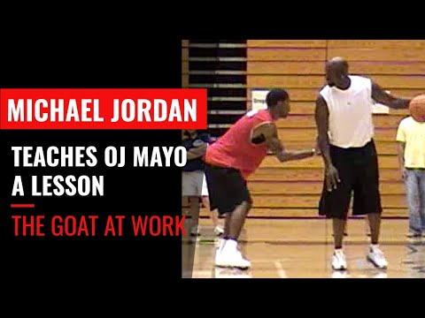 Jordan - Michael Jordan teaches OJ Mayo a lesson at MJ's basketball camp. Here's the full story behind the video http://larrybrownsports.com/basketball/video-michael-...
