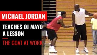 Michael Jordan teaches OJ Mayo a lesson at MJ's basketball camp. Here's the full story behind the video...