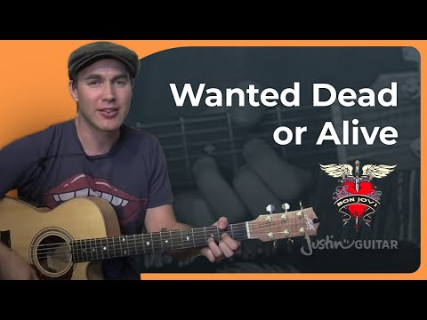 Wanted Dead Or Alive – Bon Jovi Easy Acoustic Song (Songs Guitar Lesson BS-702) How to play