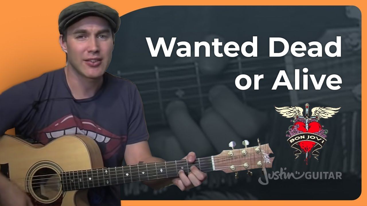 Wanted Dead Or Alive – Bon Jovi – Easy Acoustic Song Guitar Lesson (BS-702) How to play