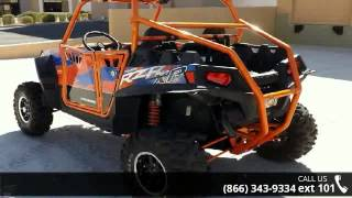 4. 2013 Polaris RZR XP 900 EPS Orange Madness and Blue LE  -...