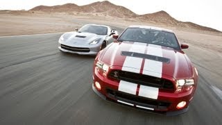 Track Tested: 2014 Corvette Stingray Vs Shelby GT500 -- Edmunds.com