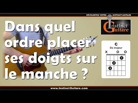 comment poser ses doigts sur une guitare