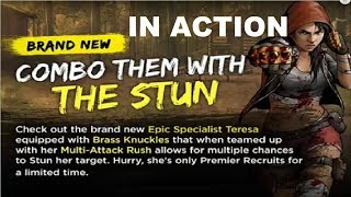 Walking Dead : Road to Survival - NEW EPIC TERESA - IN ACTION!!!