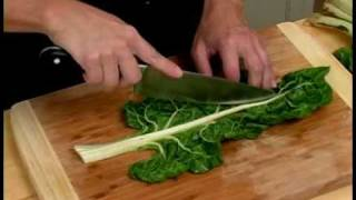 Cooking Tips: How to Prepare Green Swiss Chard. Basic cooking techniques and tips. Expert Village How-to Videos.
