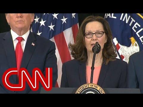Gina Haspel sworn-in as first female CIA director