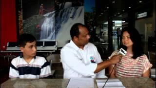 Alvorada em Brasília - Professora e Aluno participam de seminário na capital nacional.
