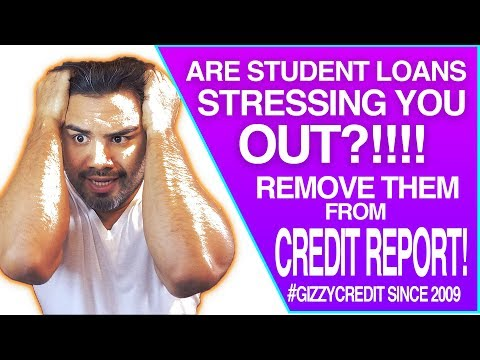 Federal Student Loans Removal from credit report / 193 credit score jump in 60 DAYS #gizzycredit