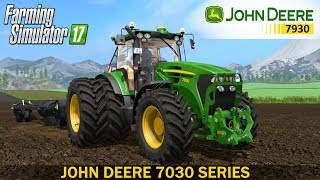 JOHN DEERE 7030 SERIES The new model of the John Deere 7030 tractor (7730, 7830, 7930)Completely washableSelection: Front hydraulics or front weightChoice of engine power (220HP, 235HP, 250HP)Moves the front axleInteractive Control (IC)Shining textureFull animation of the front suspensionThe possibility of opening the left door outside the tractorFrozen cabinRecumbent passenger seatAnimated joystickAdjust the steering columnBuy double wheelsBuy balancing cargoesA darker dynamic extraction systemFoldable front handleOpened the door, the rear windowWorking light, turn signals, stop lampsFolding warning signDust under the wheelsAhometer and speedometerMovable front wingAnimated hydraulicsThe log contains no errorsDeveloper website FS 17 - http://www.farming-simulator.comWebsite mods - https://www.modsgaming.usFS 17 fan group facebook - https://www.facebook.com/groups/FarmingSimulatorMods/FS 17 fan group VK - https://vk.com/farming_simulator_2013_gamePlaylist FS 17 - https://www.youtube.com/playlist?list=PL54hHM4RuNpdwE1PKqLxgb5r59byxQTolLink Mod JOHN DEERE 7030 SERIES - https://www.modsgaming.us/load/farming_simulator_2017/fs17_tractors/john_deere_7030_series_v2_2_2/11-1-0-1332Link Mod MANDAKO LR85 - https://www.modsgaming.us/load/farming_simulator_2017/fs_17_others_modifications/mandako_lr85_v_1_0_0_0/29-1-0-1263Link Map GIFTS OF THE CAUCASUS - https://www.modsgaming.us/load/farming_simulator_2017/fs_17_maps/map_gifts_of_the_caucasus_v2_0_3/28-1-0-113
