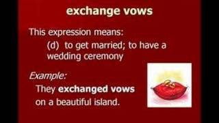 Love and Marriage Vocabulary, Jennifer Vocabulary Lessons 8