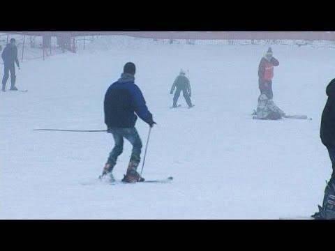 На лыжах - в