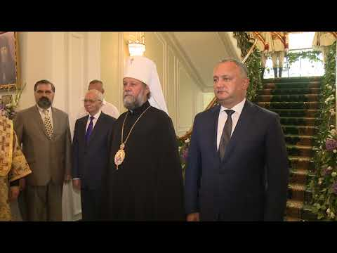 Președintele Republicii Moldova, Igor Dodon l-a felicitat pe Înaltpreasfințitul Vladimir, Mitropolit al Chișinăului și al Întregii Moldove