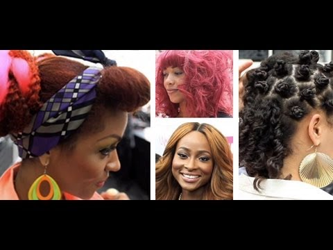 China Bumps, Braids, Bonding, Weave & Floral Lookbook At Afro Hair & Beauty Live