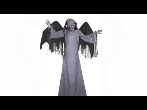 Décoration ange des ténèbres animée, sonore et lumineuse 250 cm Halloween