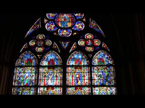 Stained Glass Windows in Notre Dame Cathedral