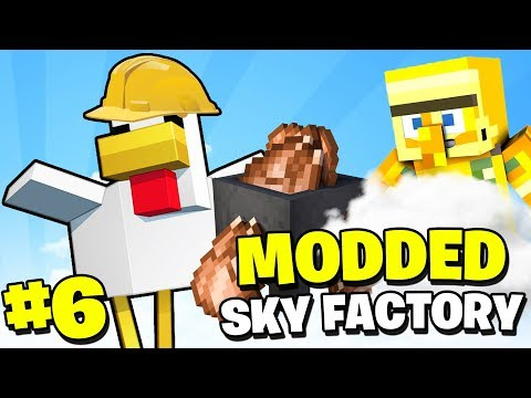 CAN THESE CHICKENS PLEASE WORK - Minecraft Sky Factory #6