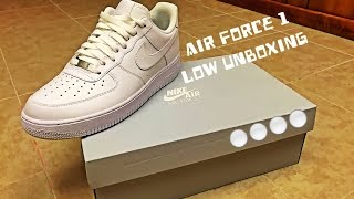 Unboxing of the all white Nike Air Force 1 Lows!Copped for $90 at Hibbet Sports