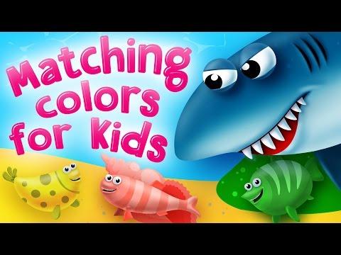 Matching Colors for Kids. Preschool and Kindergarten activities by Kids Academy.