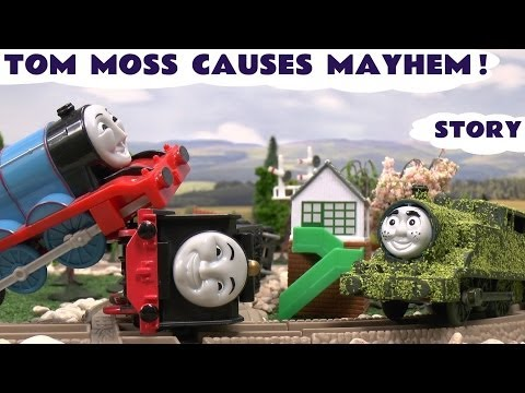 Play Doh Thomas And Friends Accidents & Crashes Tom Moss Prank Funny Naughty Engine Kids Toy Train