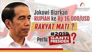 Video JOKOWI BIARKAN RUPIAH KE Rp16,000/USD. RAKYAT MATI??? MP3, 3GP, MP4, WEBM, AVI, FLV Juni 2019