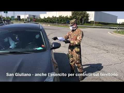 San Giuliano, in campo anche l'esercito