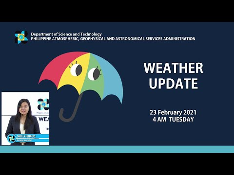 Public Weather Forecast Issued at 4:00 AM February 23, 2021