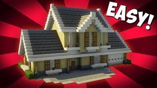Minecraft: How To Build A Suburban House Tutorial (#3)