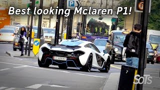 Supercars on the streets - It has been a while since I spotted a Mclaren P1 but this time it is probably the best looking one out there! The White Mclaren Sp...